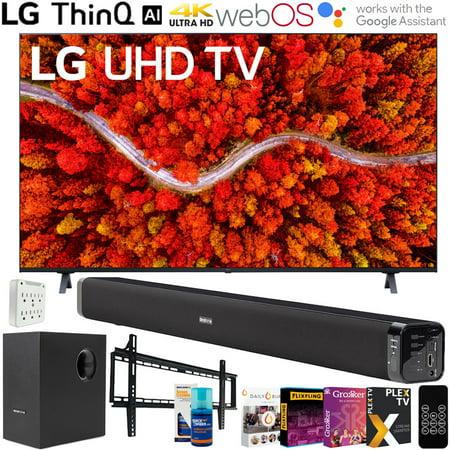 LG 65UP8000PUA 65 Inch 4K UHD Smart webOS TV (2021 Model) + Deco Soundbar Bundle