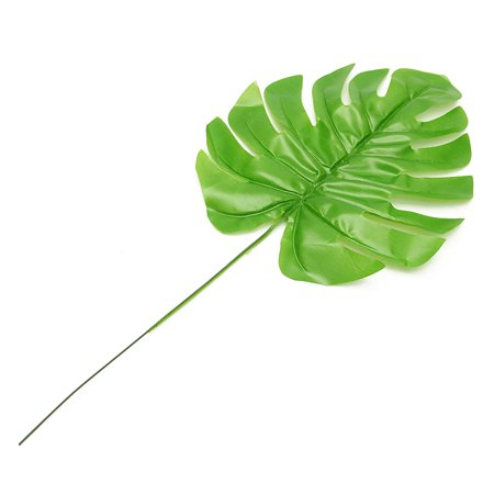12Pcs Artificial Turtle Leaf Palm Fern Plant Tree Branch Green Wedding Decor Bush - image 1 of 7