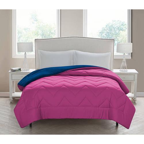 VCNY Home Lauren Chevron Stitched Reversible Plush Comforter