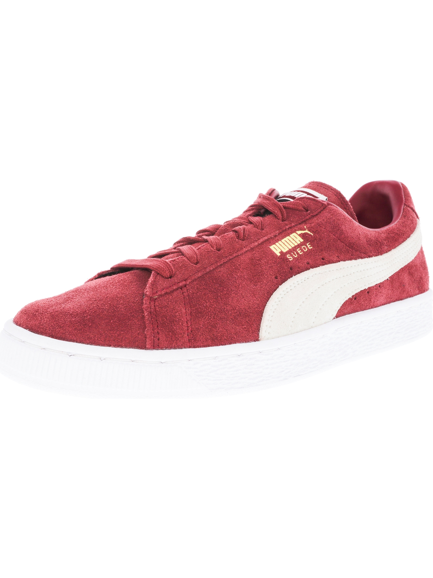 Puma Men's Suede Classic Tibetan Red / White Ankle-High Fashion Sneaker - 7M