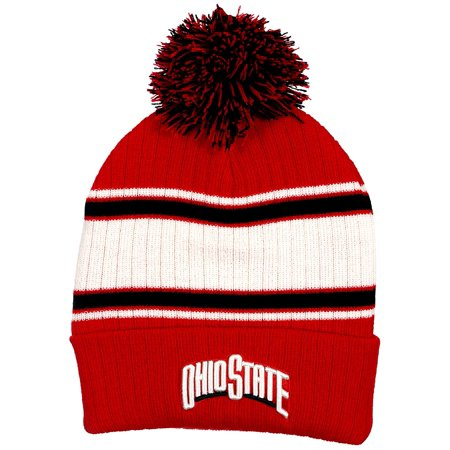 Collegiate Headwear Ohio State Buckeyes Men's Traditional Knit Pom Beanie (Ohio State Beanie Womens)