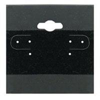 Earring Display Hang Cards Black Flocked 2 X 2 Inch (100)