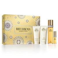 Elizabeth Taylor White Diamonds Perfume Gift Set For Women, 4 Pieces