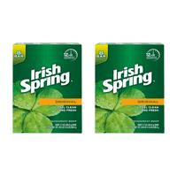 (Pack of 2) Irish Spring Original, Deodorant Bar Soap, 3.7 Ounce, 8 Bar Pack