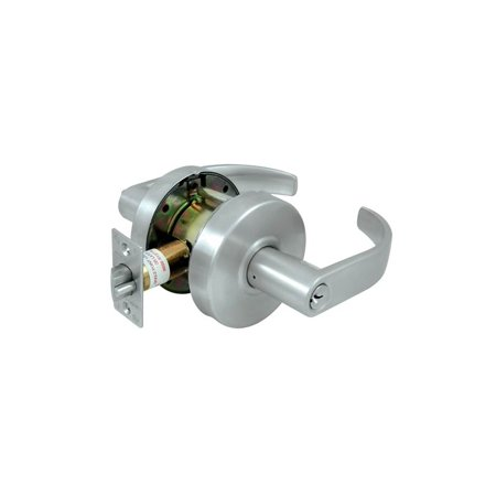 Scx Standard Curve (Grade 2 Curved Commercial Standard Classroom Lock w Cylinder (Brushed Chrome))