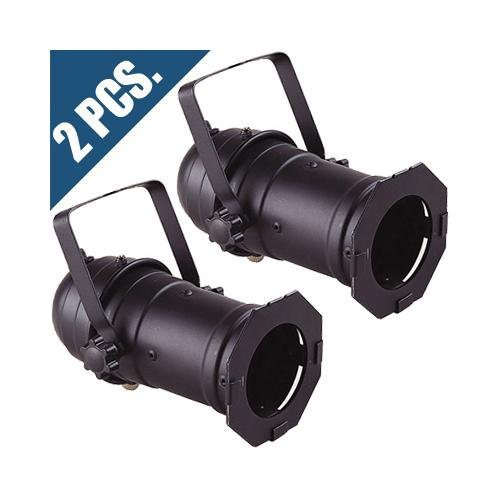 2x PAR 16 CAN Black for w/ hanging bracket and A/C cord