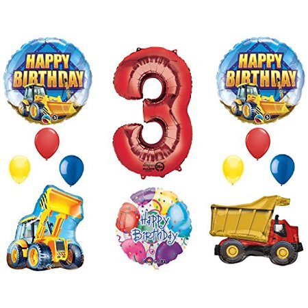 The Ultimate Construction 3rd Birthday Party Supplies and Balloon Decorations - Birthday Party Decorations