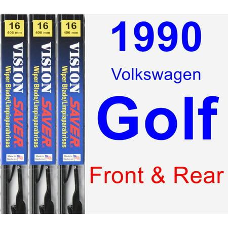 - 1990 Volkswagen Golf Wiper Blade Set/Kit (Front & Rear) (3 Blades) - Vision Saver