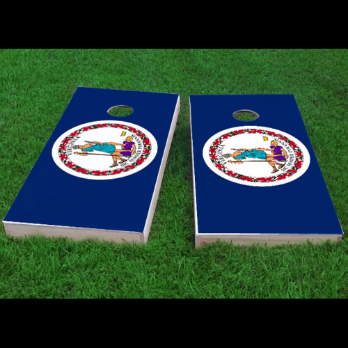 Custom Cornhole Boards Virginia State Flag Cornhole Game (Set of 2) by Custom Cornhole Boards