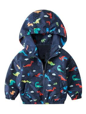 KidLuv Toddler Baby Boys Hoodies Jackets Camo Cartoon Coat Windbreaker Clothes