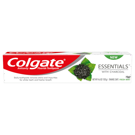 Colgate Teeth Whitening Charcoal Toothpaste - Natural Mint Flavor - 4.6oz