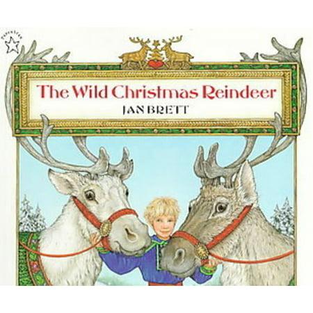 The Wild Christmas Reindeer (Hardcover) (The Wild Christmas Reindeer By Jan Brett)