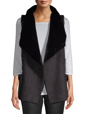 Kendall + Kylie Women's Faux-Sueded Vest with Shearling Lining