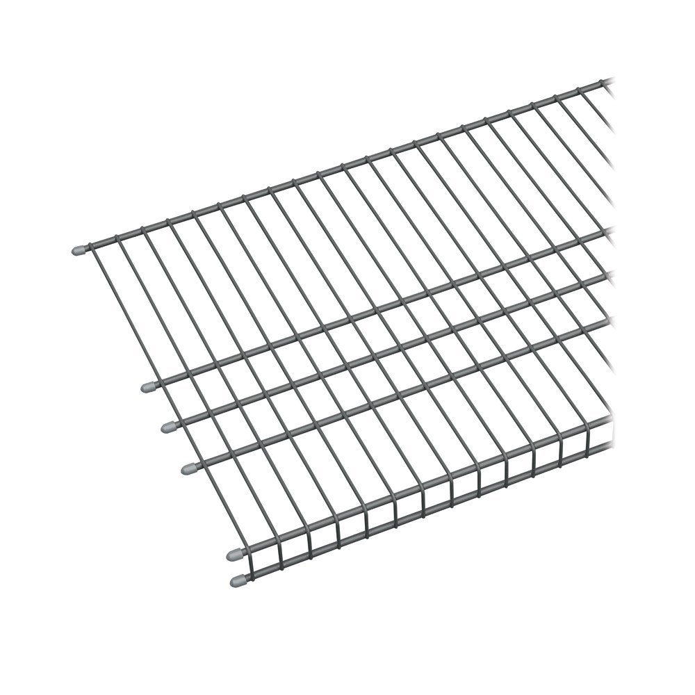 73571 Maximum Load 6ft. by 16in. Garage Wire Shelf, Satin...