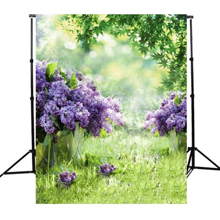 3x5ft Vinyl Fabric Screen Spring Outdoor Flower Green Grass Background Photography Backdrop Photo Studio Prop Birthday Party Booth Decor (Birthday Photo Booth Backdrop)