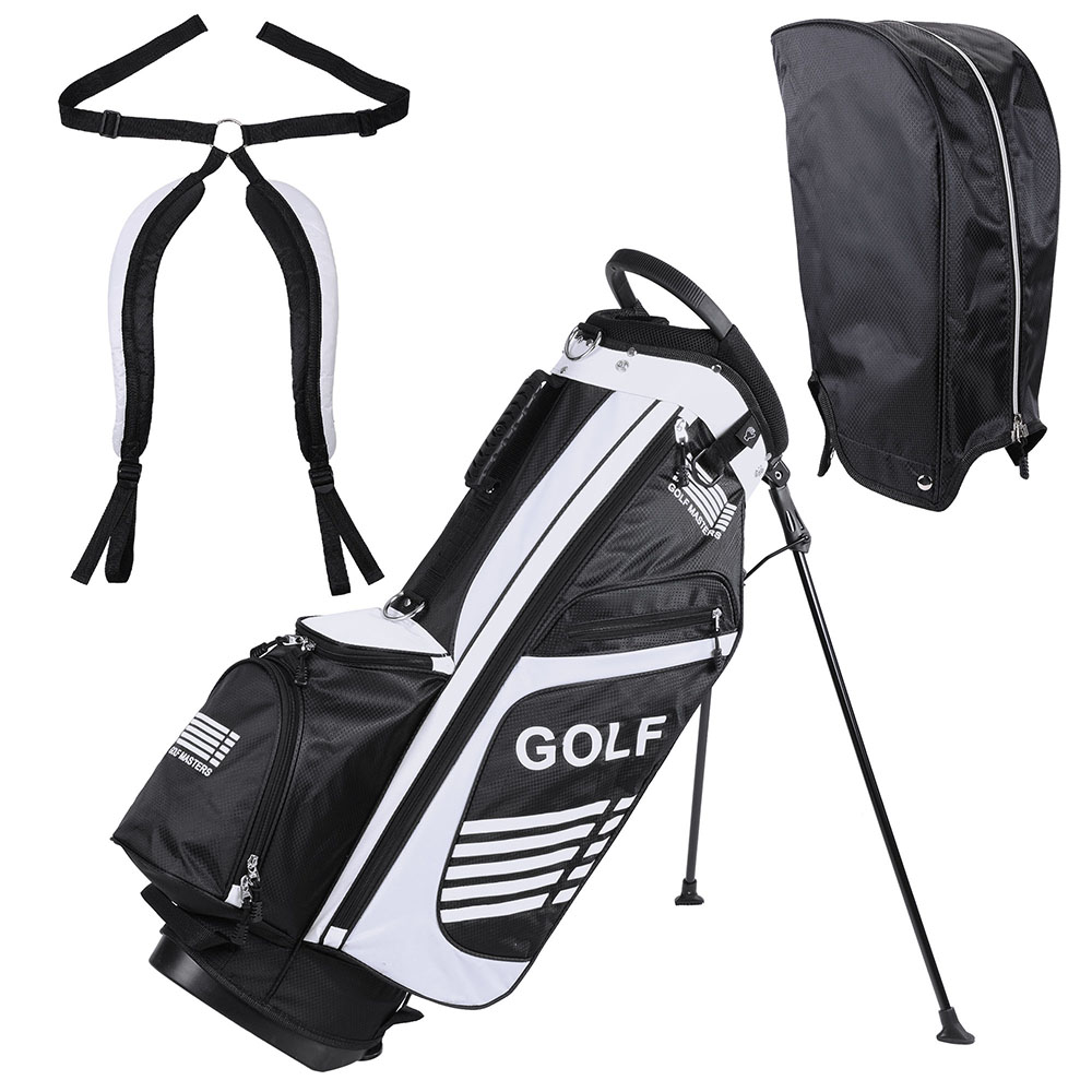 AW 16x11x35' 600D Golf Stand Bag Golf Carry Bag w  7 Pockets For Male Sport Golf Accessory by AW