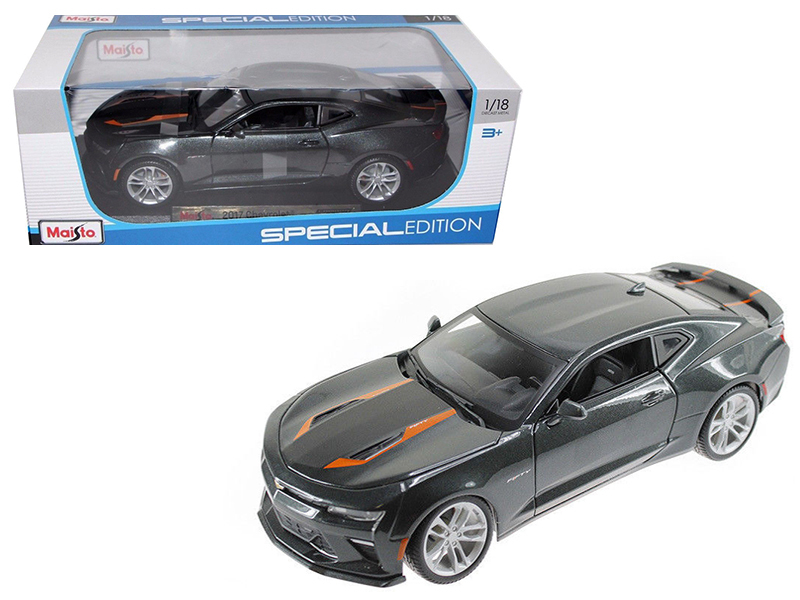 2017 Chevrolet Camaro SS Fifty 50th Anniversary Metallic Grey 1 18 Diecast Model Car by... by Maisto International Inc