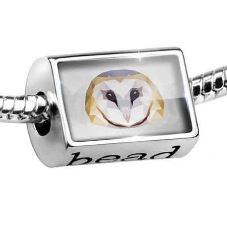 Bead Low Poly zoo Animals Barn Owl Charm Fits All European Bracelets ()