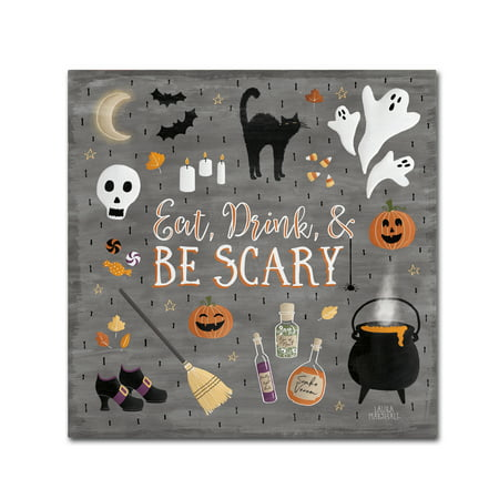 Trademark Fine Art 'Haunted Halloween I' Canvas Art by Laura Marshall - Laura Halloween