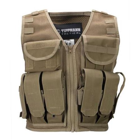 Tippmann Paintball Accessory Vest Coyote Tan Special Ops Paintball Vests