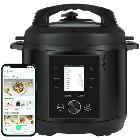 CHEF iQ 6QT Multi-Functional Smart Pressure Cooker, Pairs with App Via WiFi for Meals in an Instant, Built-In Scale & Auto Steam Release