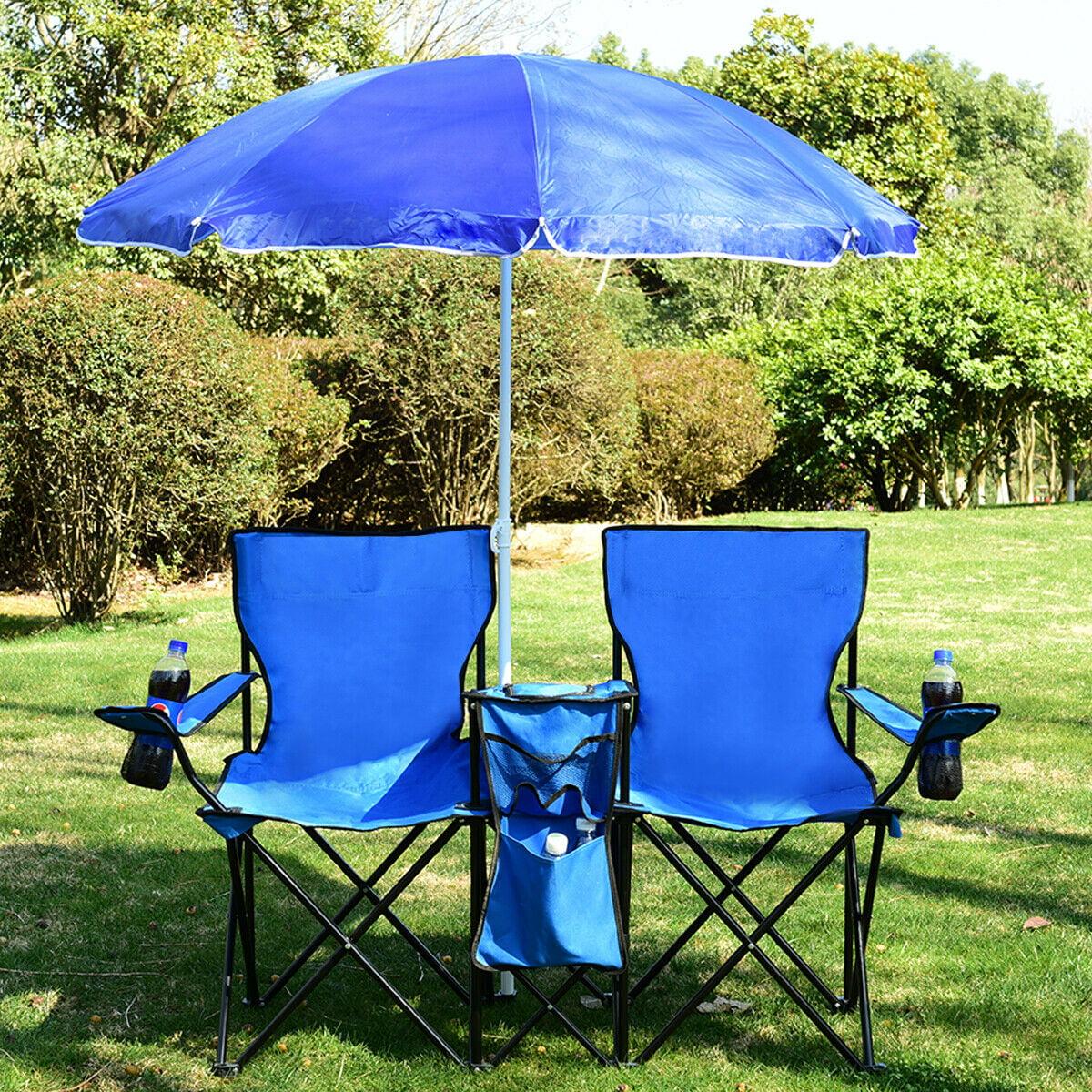 Portable Folding Picnic Double Chair W