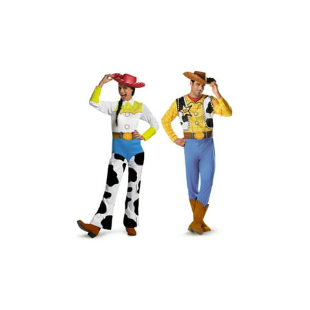 Toy Story Woody and Jessie Couples Costume](Jessie Toy Story Costume Adults)