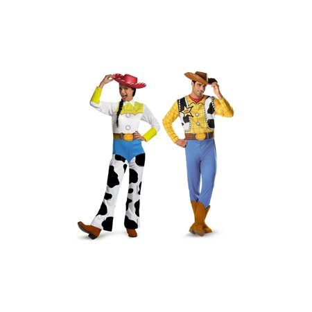 Toy Story Woody and Jessie Couples Costume](Jessie Toy Story Halloween Costume Adults)