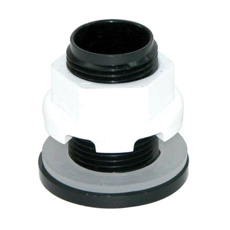 Threaded Bulkhead - Lifegard Aquatics Standard Threaded Bulkhead - 1/2