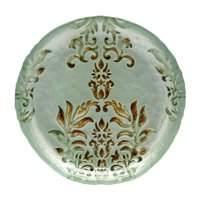 """DAMASK 8.5"""" TURQUOISE/GOLD SALAD PLATE"""