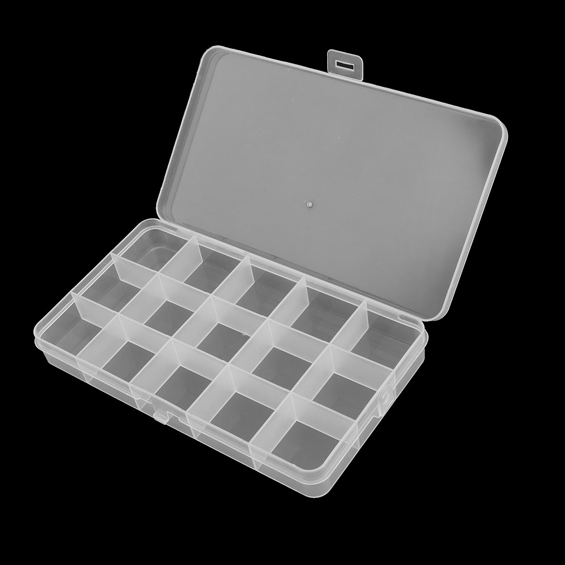 Household Office 15 Compartments Sundries Beads Capsule Storage Case Box 5 Pcs - image 3 of 4