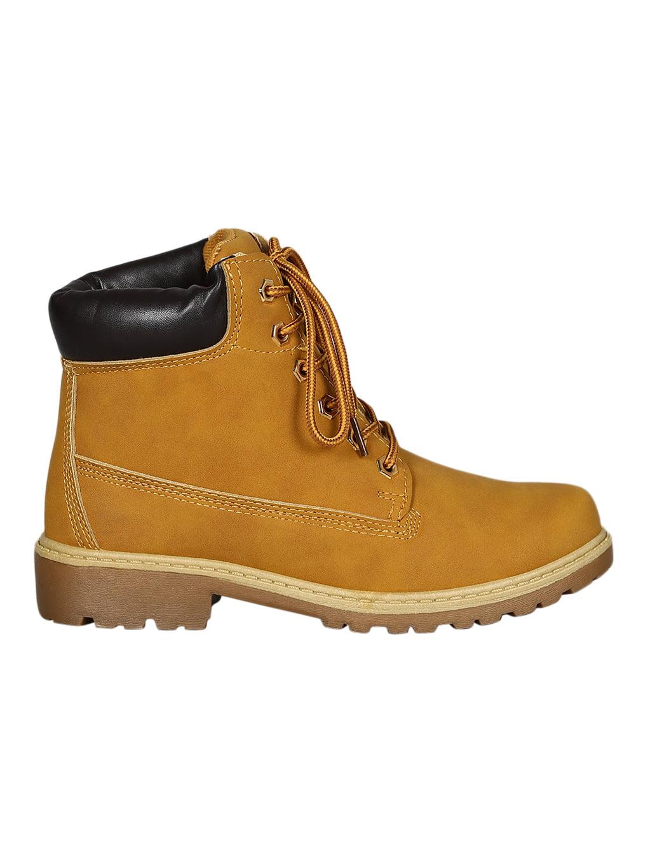 35c2c6fe107 Women Leatherette Round Toe Lace Up Lug Sole Work Boot 18275