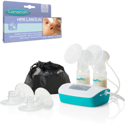 Evenflo Advanced Double Electric Breast Pump and Bonus Lanolin Cream