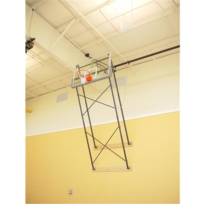 Gared Sports 2400-9120A Fold Up Wall Mount Series Extension Fan Shape Board for Adjust-a-Goal