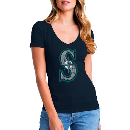 Seattle Mariners Baseball (MLB Seattle Mariners Women's Short Sleeve Team Color Graphic)
