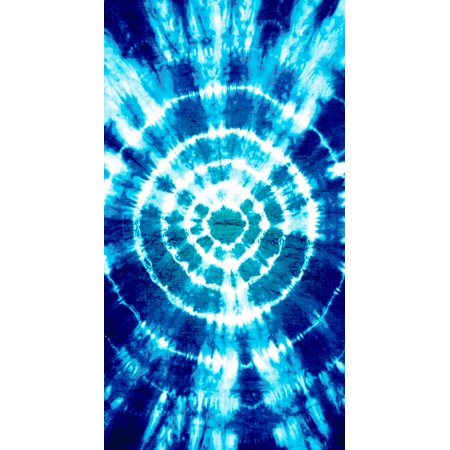 Laid Out Beach Towel - Mainstays Tie Dye Beach Towel - 34