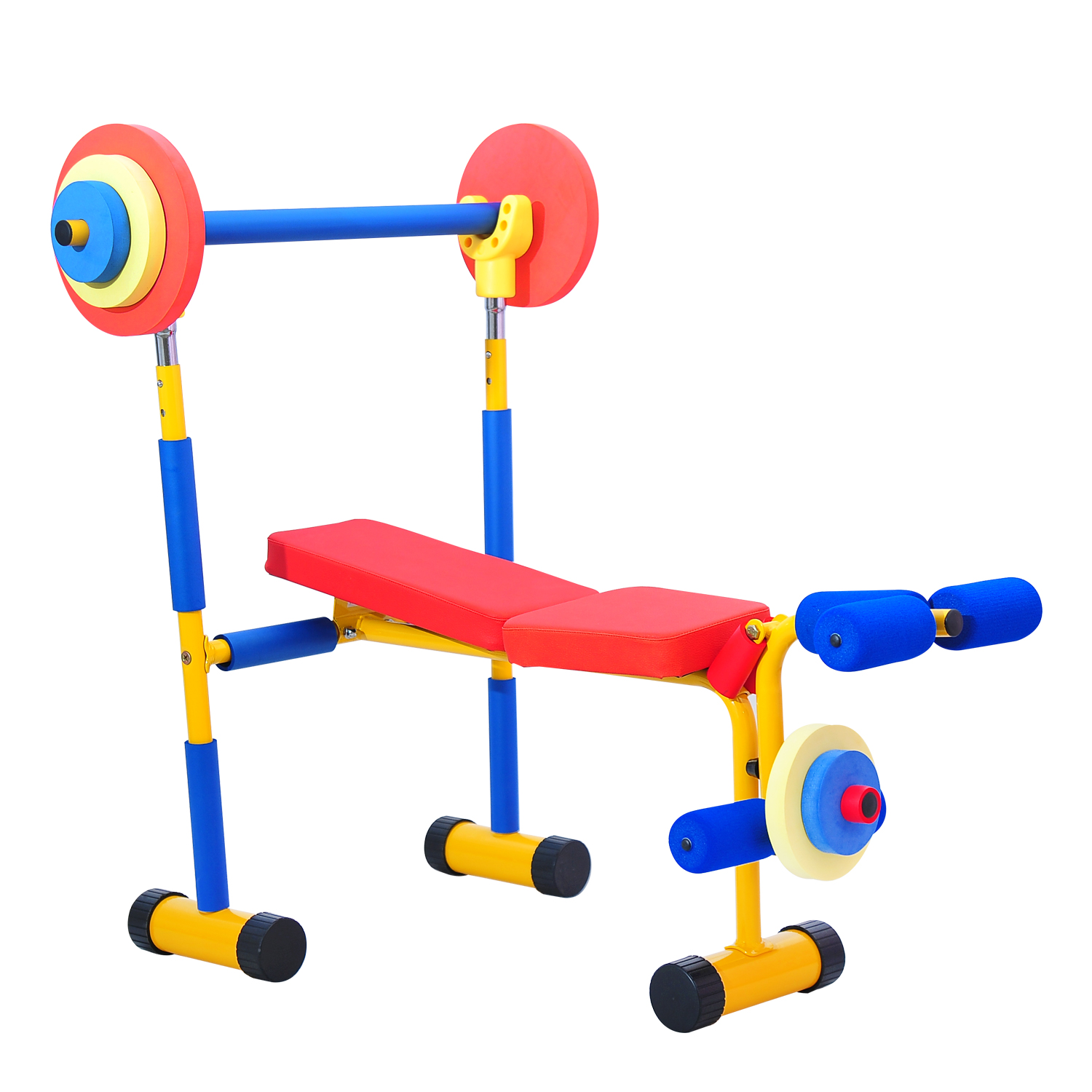 Kinbor Fun and Fitness Exercise Equipment for Kids Children Weight Bench Set
