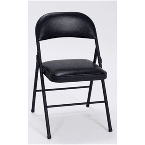 14993blk4 Vinyl Seat/Back Folding Chair - Black