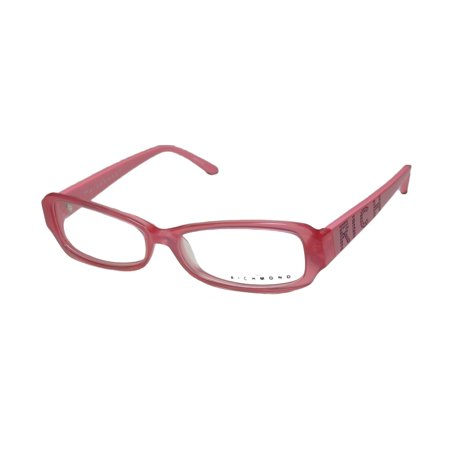 New John Richmond 04501 Womens/Ladies Designer Full-Rim Coral / Pink With Hot Rhinestones Logo Frame Demo Lenses 54-15-135 Rhinestones Eyeglasses/Eyewear (John Richmond Online-shop)