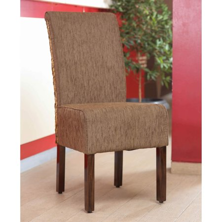 International Caravan Sg 3341 1Ch Philip Upholstered Dining Chair With Mahogany Frame  44  Brown