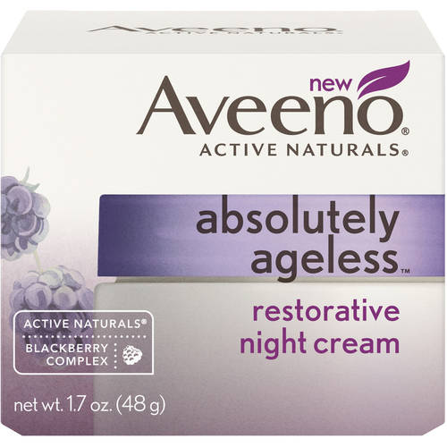 Aveeno Absolutely Ageless Restoring and Anti-Aging Night Cream Face Moisturizer , 1.7Oz