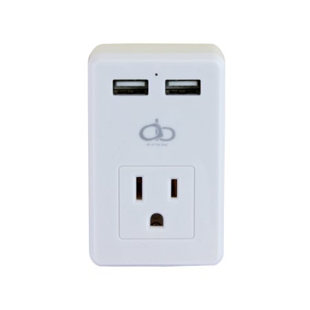 Image of AOB Dual USB AC Outlet Wall Adapter With LED Indicator