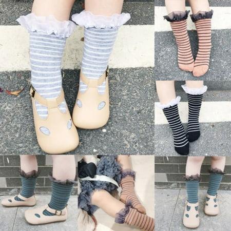 Toddler Kids Baby Girl Boy Children Kids Knee High Socks Frilly Lace 0-6 years](Toddler Boy Knee High Socks)