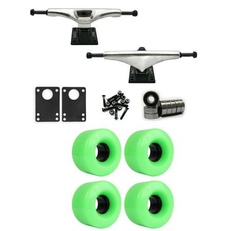 Core 7.0 Longboard Trucks Wheels Package 54mm x 32mm 83A 802C Green