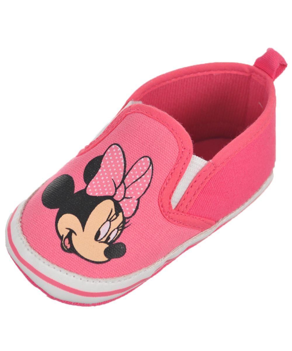 "Minnie Mouse Baby Girls' ""Minnie Slide"" Slip-On Sneaker Booties"