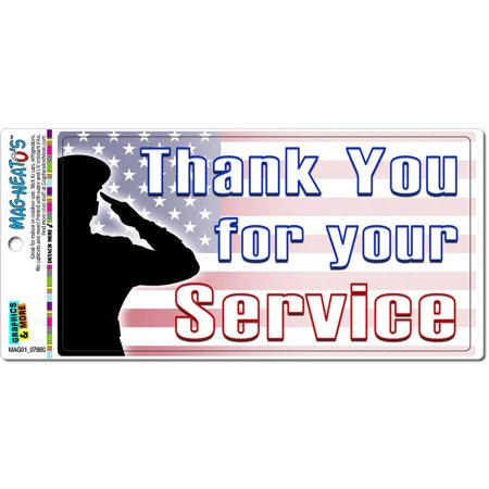 Thank You For Your Service Usa Military Troops United States Marine Corps Navy Air Force Army Automotive Car Refrigerator Locker Vinyl Magnet