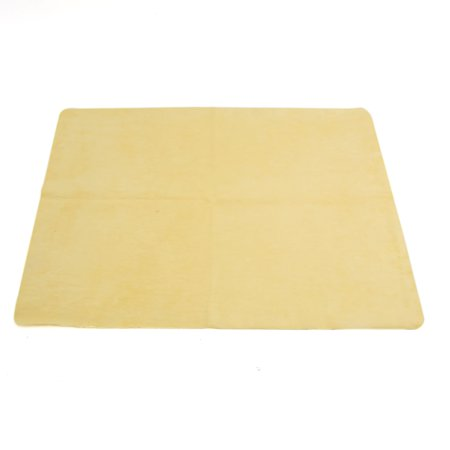 Auto Car Detailing Cleaning Soft Cloths Synthetic Chamois Towel Duster Yellow