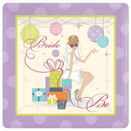 Bridal Shower Paper (Bridal Shower 'Chic Bride' Extra Large Paper Plates)