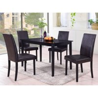 Best Master Furniture's Melisa 5 pcs Dining Set with Brown Color Chairs