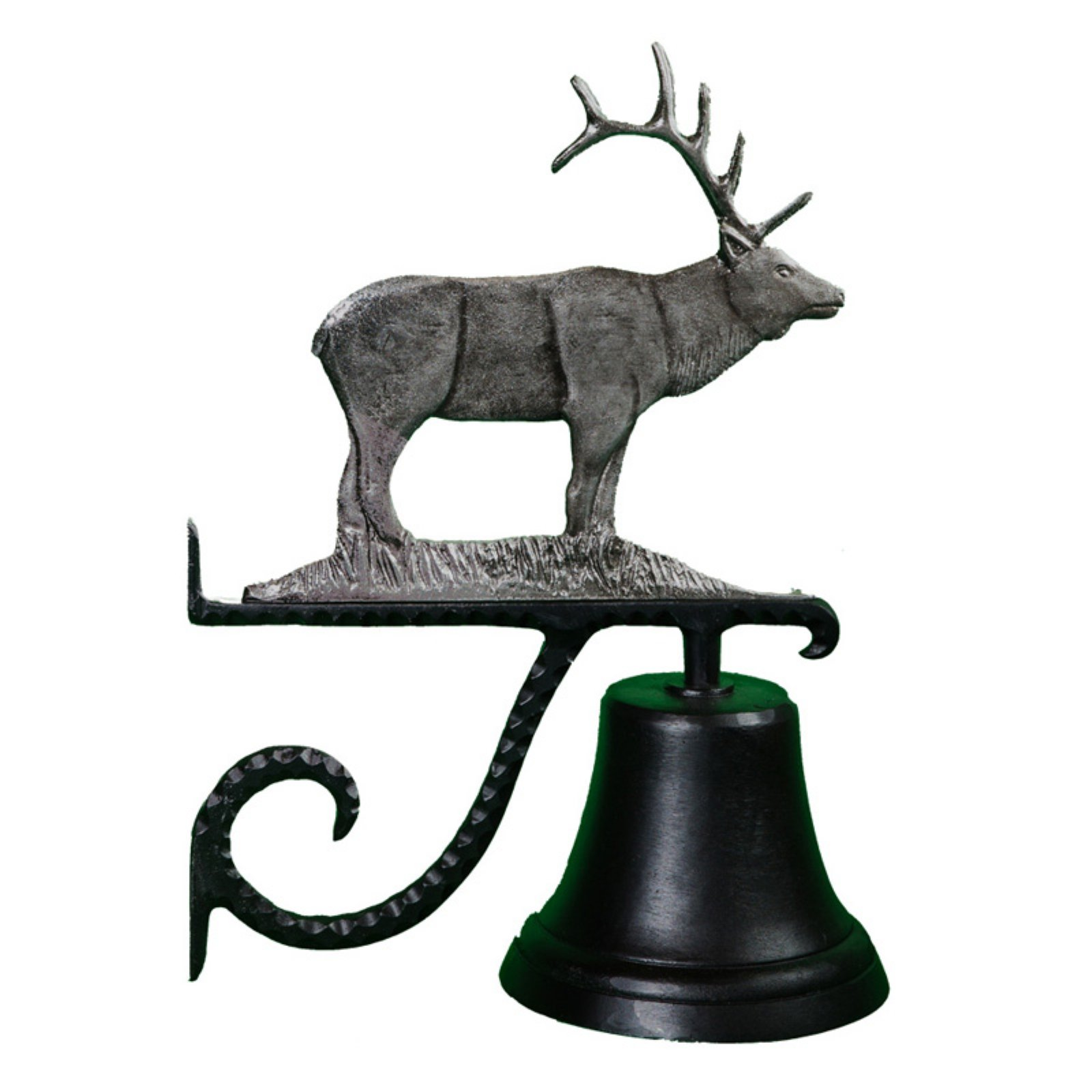 Cast Bell with Swedish Iron Elk Ornament